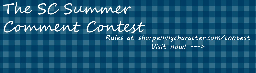Visit sharpeningcharacter.com/contest for details!