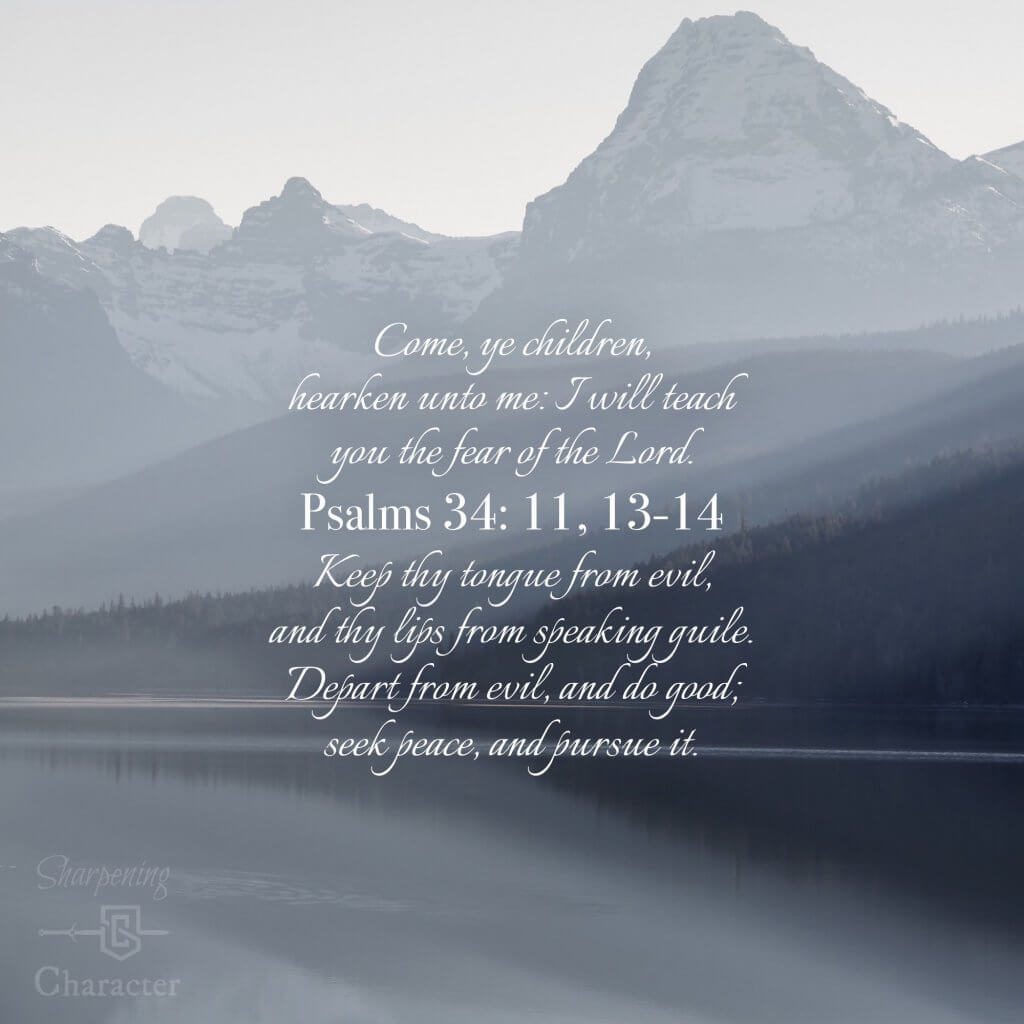 Psalms 34:11, 13-14 Phone