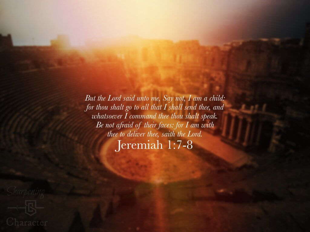 Jeremiah 1:7-8 Tablet