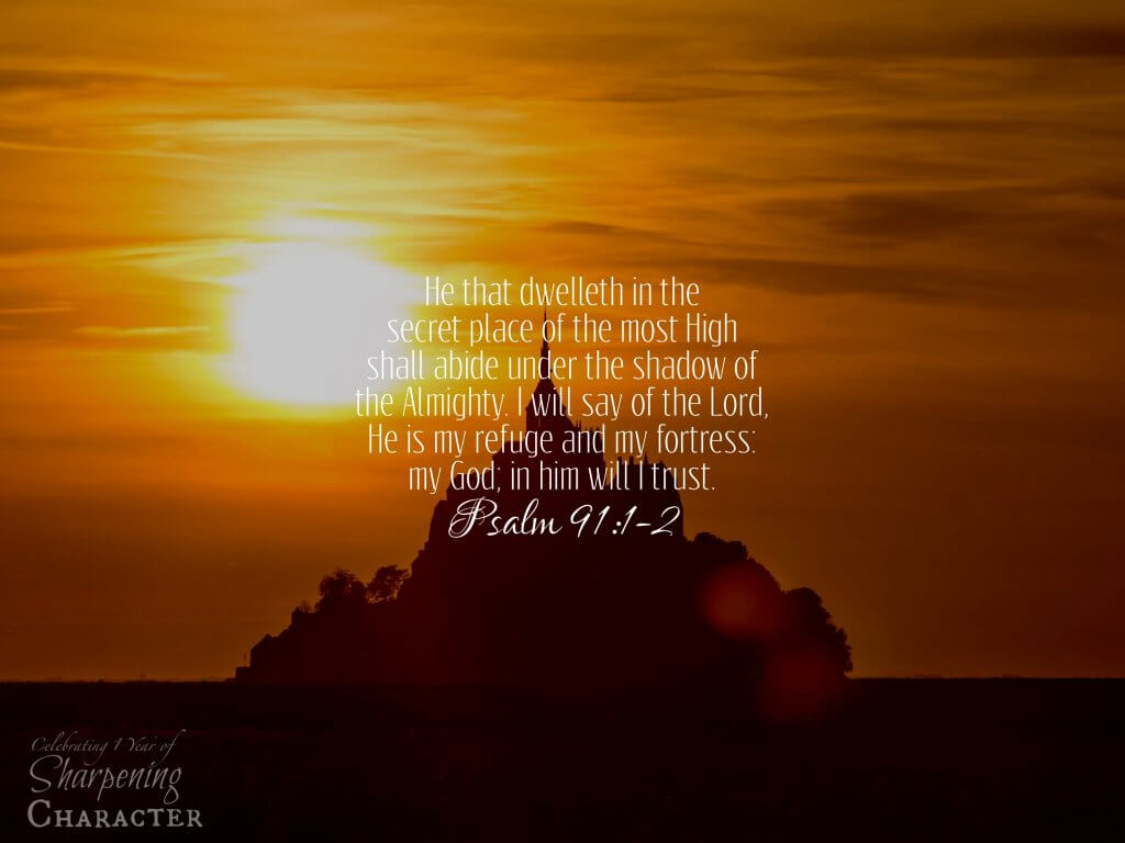 Psalm 91:1-2 Tablet