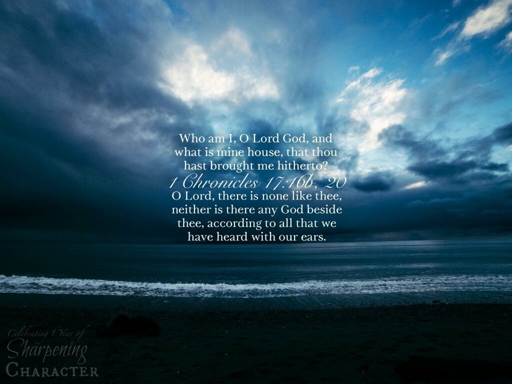 1 Chronicles 17:16b, 20 Tablet
