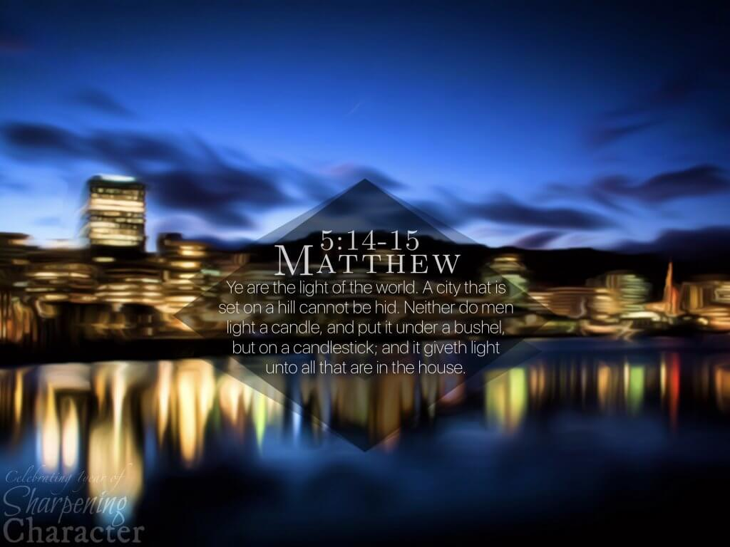 Matthew 5:14-15 Tablet
