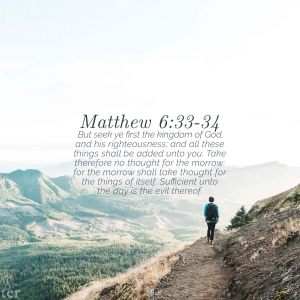 Matthew 6:33-34 Tablet