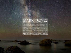 Mark 10:25-27 Tablet