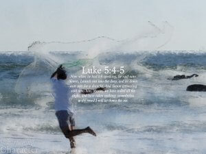 Luke 5:4-5 Tablet
