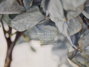 1 Peter 1:24-25 Tablet