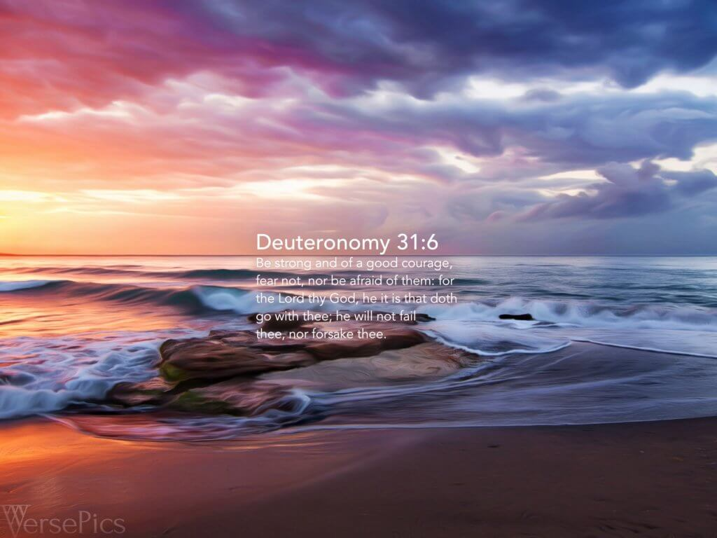 Deuteronomy 31:6 Tablet