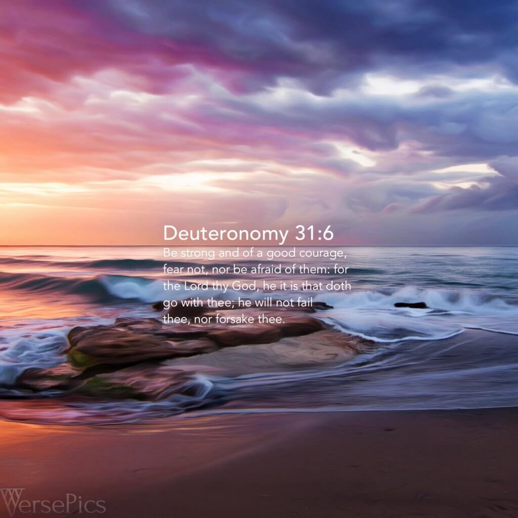 Deuteronomy 31:6 Phone