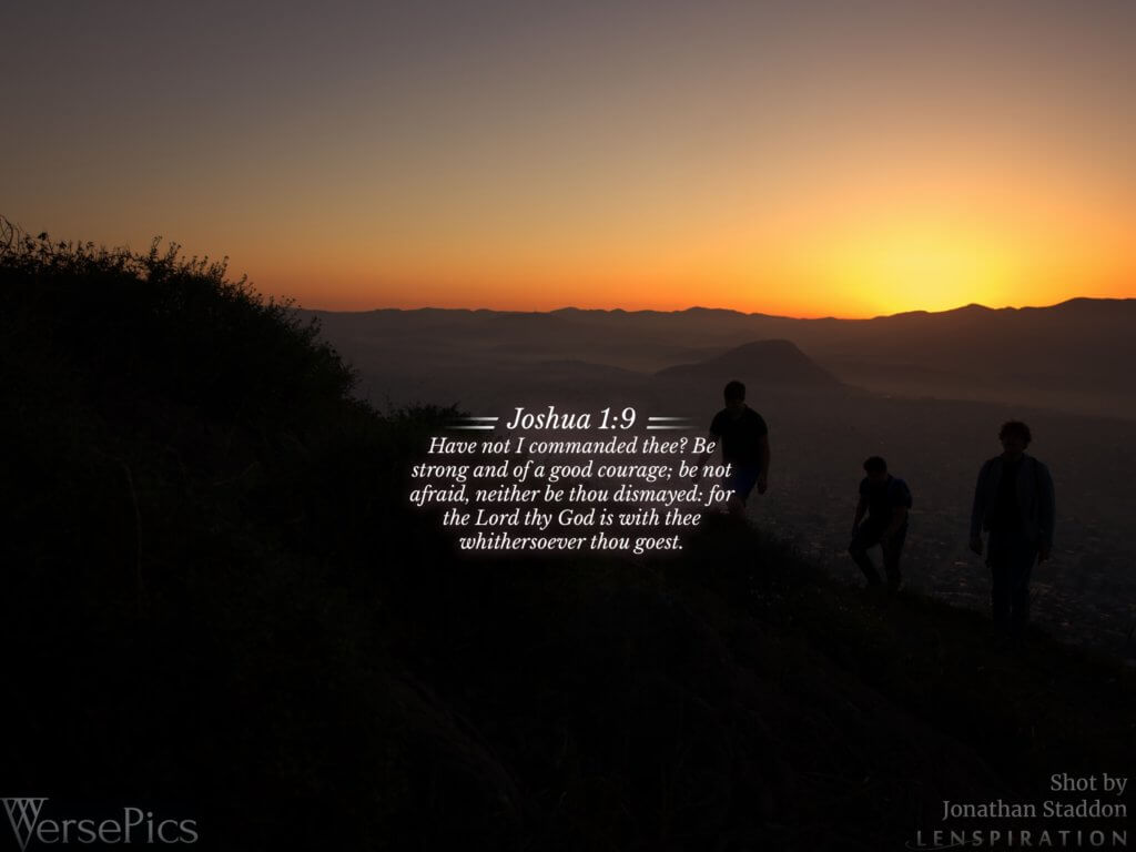 Joshua 1:9 Tablet